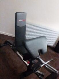 Bodymax weights bench with leg and arm extensions