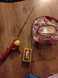 Cars theme infant fishing rod, As new. kids, Childs fishing rod