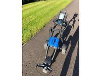 Gokart automatic speed golf trolley in blue