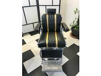 Electric hydraulic Belmont barber chair