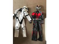 Boys Halloween fancy dress costumes age 7-8 Stormtrooper and Ant-Man
