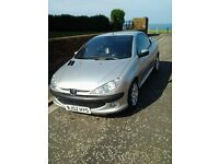 Peugeot 206cc CONVERTIBLE, 2L. SILVER *NEW LOWERED PRICE*