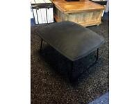 Black foot stool poofe excellent condition