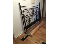 Black king size bed frame