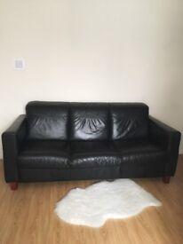 Black Leather Sofa Nuneaton