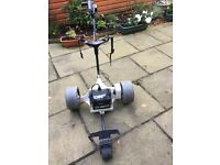 PowaKaddy Classic electric golf trolley with battery and charger