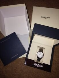 Longines mens silver watch Flagship L4.716.4