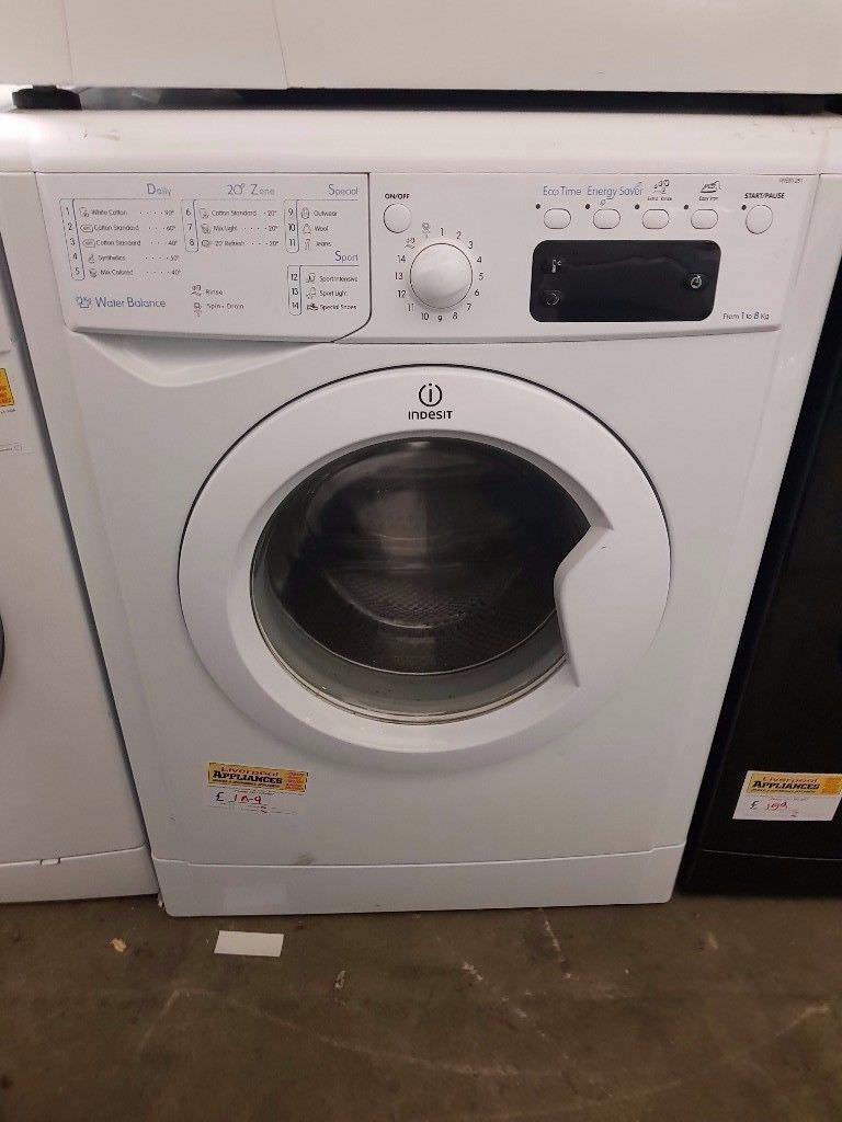 Indesit Washing Machine (8kg) (6 Month Warranty)