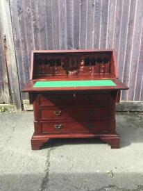 Solid mahogany bureau