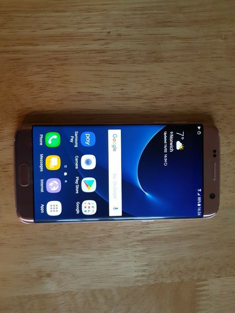 Samsung Galaxy S7 edge SM-G935F - 32GB - Rose Gold , Unlocked for any  network  Nice Condition  | in Norwich, Norfolk | Gumtree