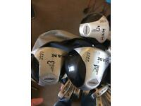 Full set of men's golf clubs ram concept