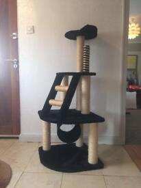 3 Tier Cat bed post with ladder & scratching posts