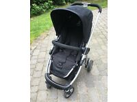 LOT2 – iCandy Pram and Pushchair (Black) with umbrella