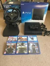 PlayStation 4 500gb - Thrustmaster T80 - 6 games