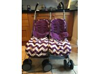 Double buggy stroller Obaby zigzag design