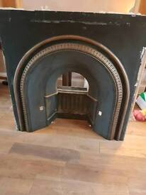 Gas fire,back plate and surround.