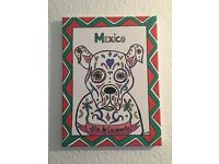 Mexican style painting hand made
