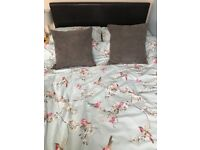 Small Double (4') faux leather bed frame for sale