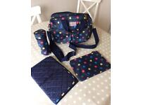 Kath Kidston Blue Spotty Changing Bag