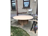 Round folding table & chairs