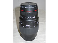 Telephoto lens, Sigma, 70-300mm, 4-5.6 APO, to fit Canon