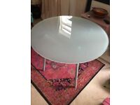 Glass table - for 4 chairs