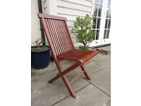 One Teak Wood Folding Garden Chair
