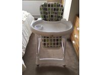 Babylo Munch Highchair in White - As New Condition unused