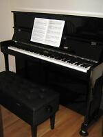 May Berlin Upright Piano - Ebony