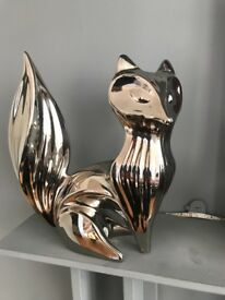 Jonathan Adler - Platinum Fox Figurine SILVER PLANTINUM GLAZE