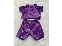 Build a Bear purple pyjamas with slippers