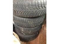 4x BMW (pcd5x120) steel wheels with 195/55/16 Goodyear tyres