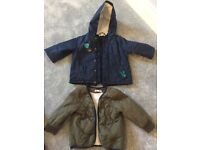 Navy winter waterproof coat 18 months, very good condition