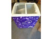Glass Top Ice Cream Display Freezer