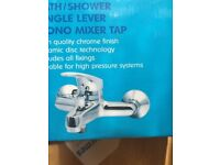 BATH / SHOWER SINGLE LEVER MONO MIXER TAP WITH DUAL CONTROL ECO-CARTRIDGE
