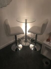 Dining bar table and chairs