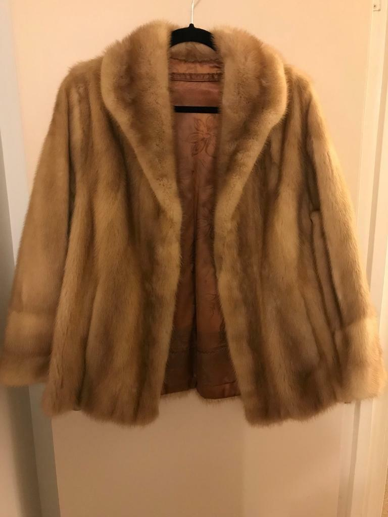 2 immaculate bespoke hand made vintage real mink fur jackets