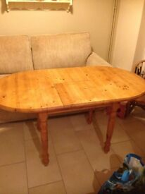 Oval Extending Pine Table