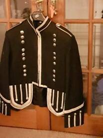 Black piper military jacket
