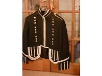 Black piper military jacket