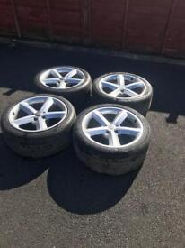 AUDI A5 S LINE ALLOYS WHEELS AND TYRES