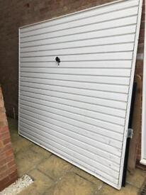 White Garage door for sale- free to a good home