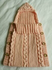Knitted baby sleeping bag 0-3 months
