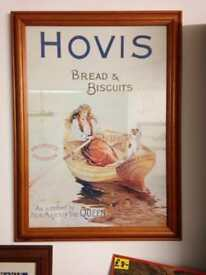 Hovis bread and biscuits adverting poster picture framed collectable rare