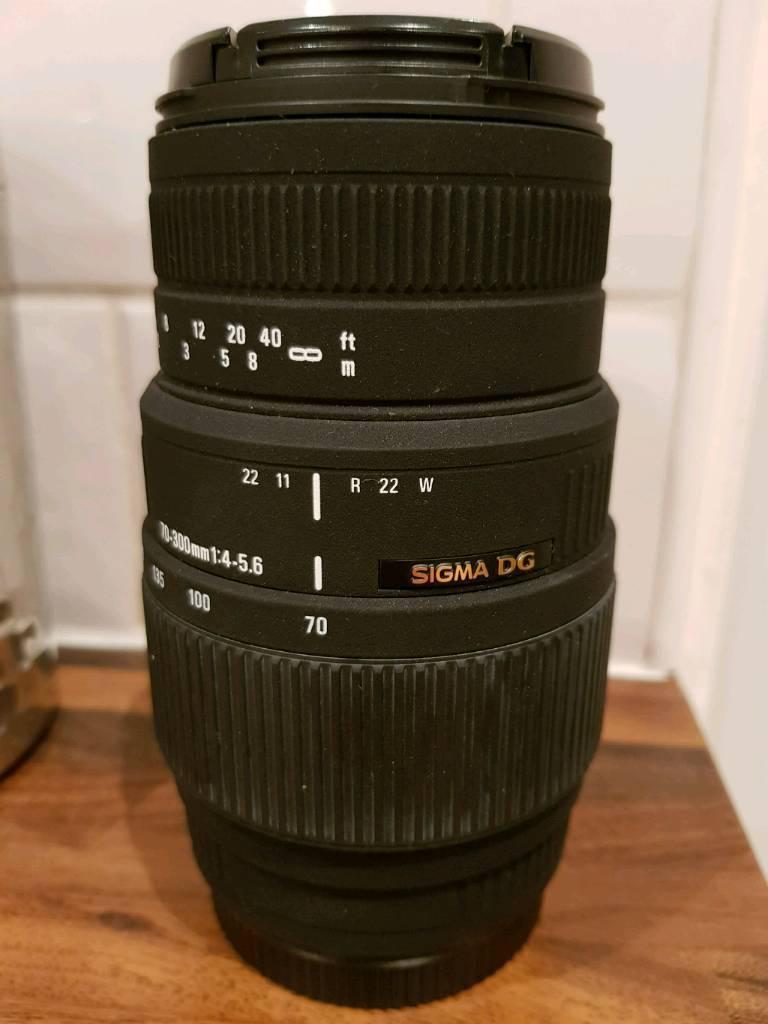Sigma DG 70-300 Canon fit lens
