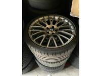 "Genuine BMW 5 / 6 Series 20"" Alloy Wheels & Tyres M Sport 312 F10 F11 F12 679259"