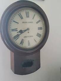 Large welsh antique aberdare wall clock