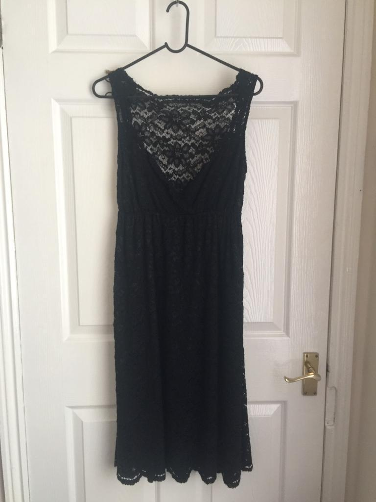 GORGEOUS black lace dress M&S new with tags Size 10 RRP £59