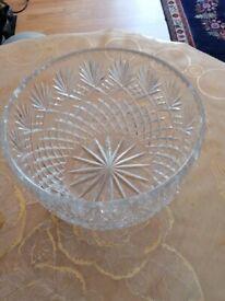 28cm deep crystal bowl for fruit /salad or decoration