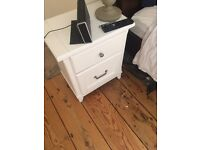 2 Laura Ashley White Bedside tables
